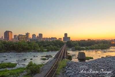 Sunrise Along The Rails