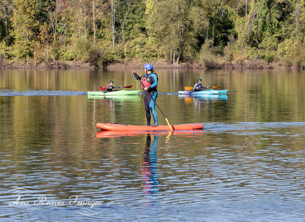 Paddling on the James