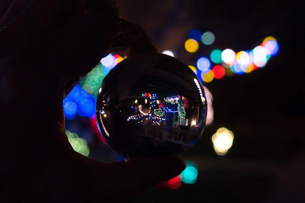 Lensball Christmas Lights