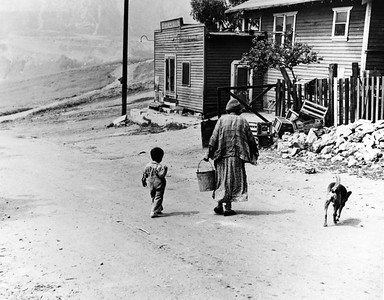 1949, Old Woman, Child, and Dog