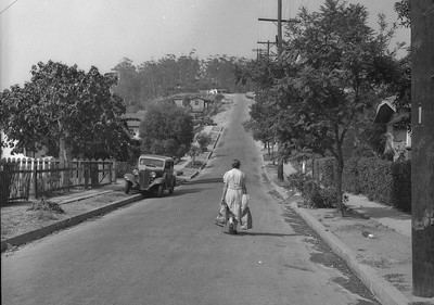 1947, Chavez Ravine Woman Walking