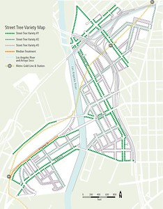 2012, CASP Street Tree Variety Map