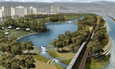 2007, Island on Revitalized LA River