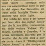 1975, Italian Newspaper Blurb