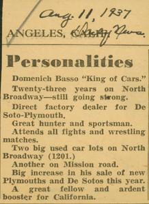 1937, Newspaper Personalities