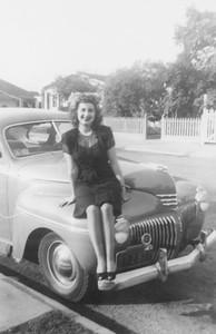 1942-45, Lady on Car Hood