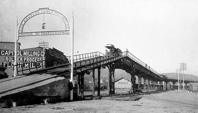 1889, Cable Railway Viaduct at Capitol Milling