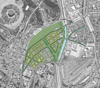 2007, LA River Revitalization Secondary Alternative Map