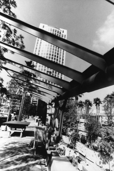 1995, Plaza Awning During Construction
