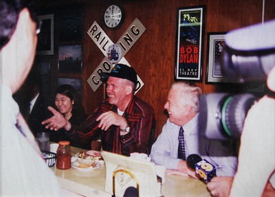 1998, Larry and Mayor Riordan at Breakfast