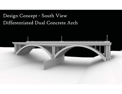 2011, Dual Concrete Arch Design