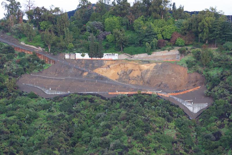 Back-cut failure during rains of 2004-2005.