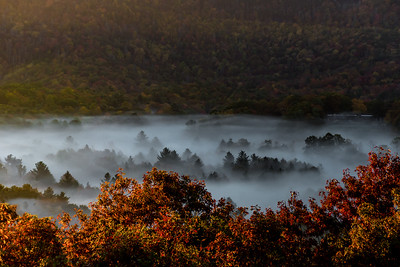 Fall Morning - Whiteside Mountain, NC
