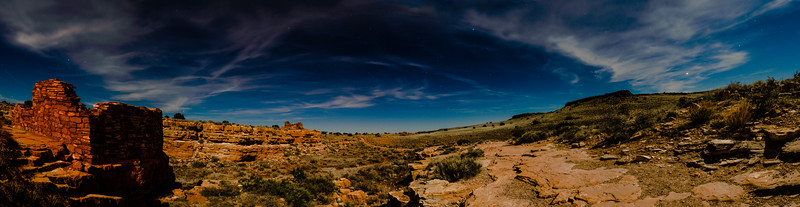 John Chaides A panorama composite of Lomaki and Box Canyon Pueblos at the Wupatki National Monument in Arizona on Thursday, April 18, 2019.