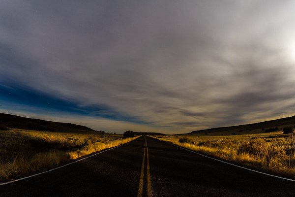 John Chaides / The Lumberjack<br /> A cloudy night sky over Wupatki National Park on Jan. 20, 2019.