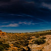 John Chaides<br /> A panorama composite of Lomaki and Box Canyon Pueblos at the Wupatki National Monument in Arizona on Thursday, April 18, 2019.