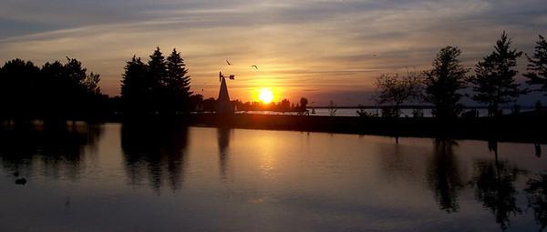 sunset reflections Andrew Haydon Park, Ottawa
