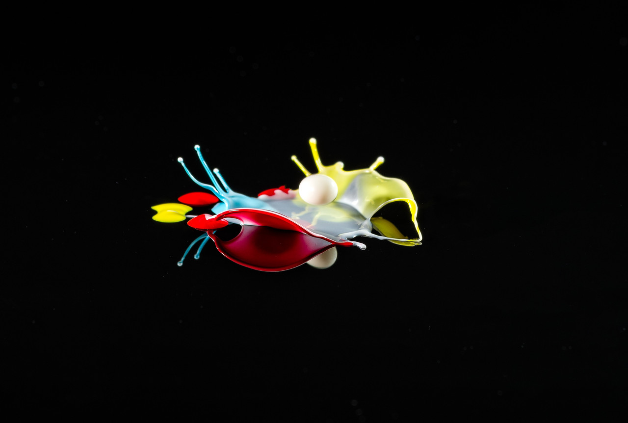 Strange fish in the deep ocean