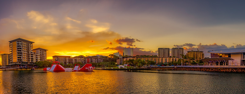 Sunset Over the Waterfront