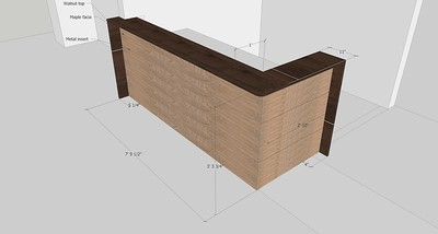 Steve's sketchup of desk