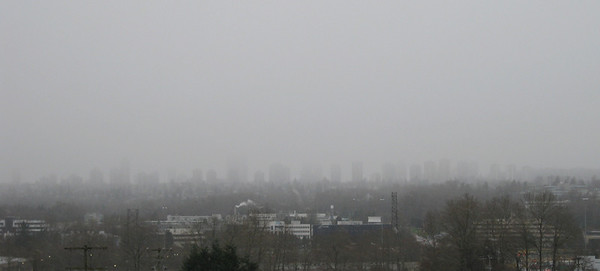 March 14: Clouds  And also snowfall, obscuring the combs on the horizon.