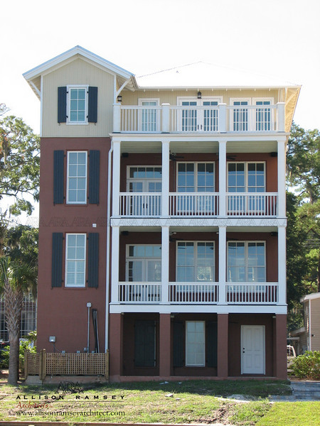Marina Village is several houses along Factory Creek on Lady's Island in Beaufort, South Carolina designed by Allison Ramsey Architects.