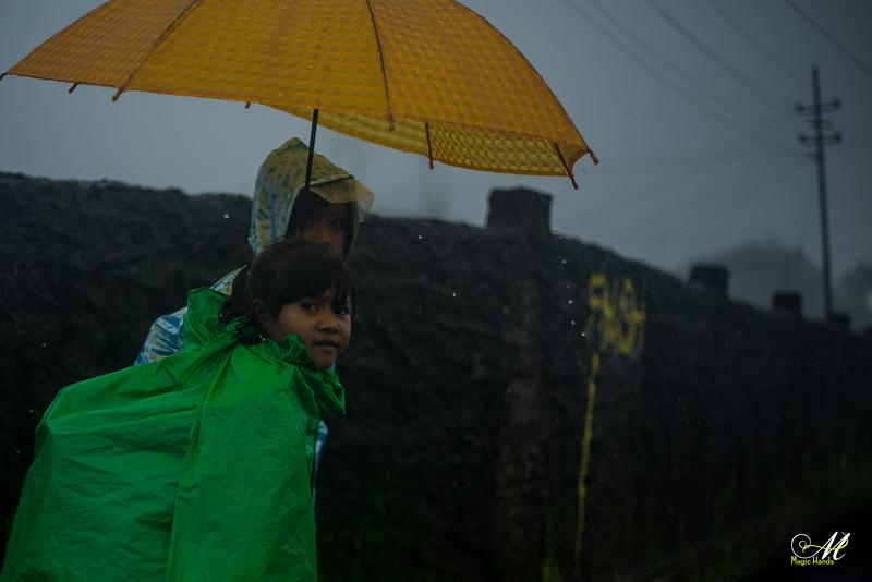 """Listen to the rhythm of the falling rain..."""