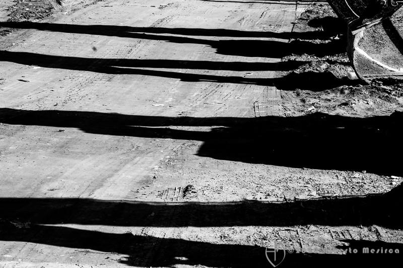 excavators shadows