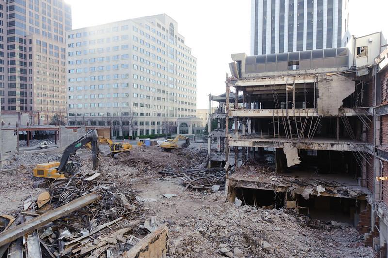 Demolition progressing in the B. Forman's area.