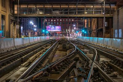 LRT Tracks in Downtown Minneapolis