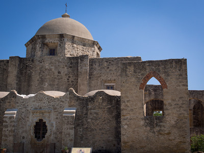 Dome and walls, Mission San José, San Antonio, TX