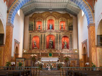 Interior, Mission San Juan Bautista, CA