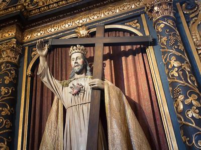 Side altar, Mission San Carlos Borromeo de Carmelo, Carmel, CA