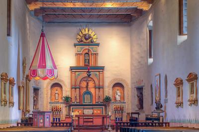 Interior, Mission San Diego de Alcalá, CA