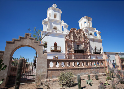 Facade, Mission San Xavier del Bac, Tucson AZ