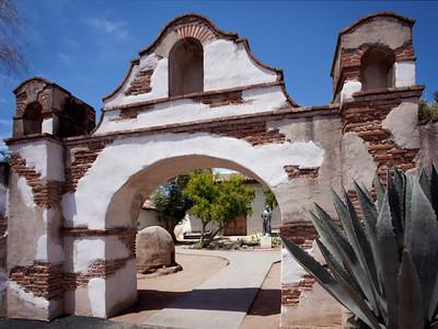 Entrance arch, Mission San Miguel Arcangel, CA