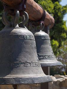 Original Stone Church bells, Mission San Juan Capistrano, CA
