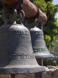Original Stone Church bells, Mission San Juan Capistrano, CA