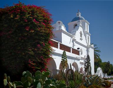 Facade, Mission San Luis Rey de Francia, CA