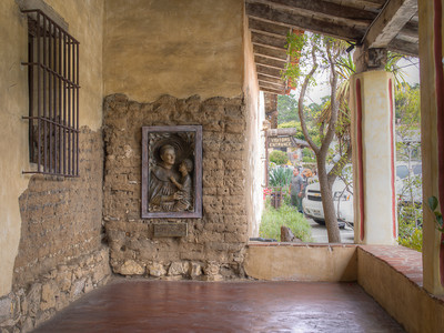 Entrance with St. Anthony, Mission San Carlos Borromeo de Carmelo, Carmel, CA