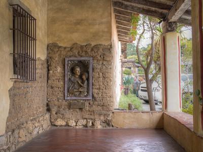 Entrance with St. Anthony, Mission San Carlos Borromeo de Carmelo, Carmel, CA