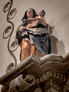 Madonna and child, Mission San Juan Capistrano, CA