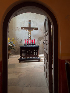 Side chapel, Mission Conceptión, San Antonio, TX
