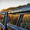 Fall Fence Sunrise
