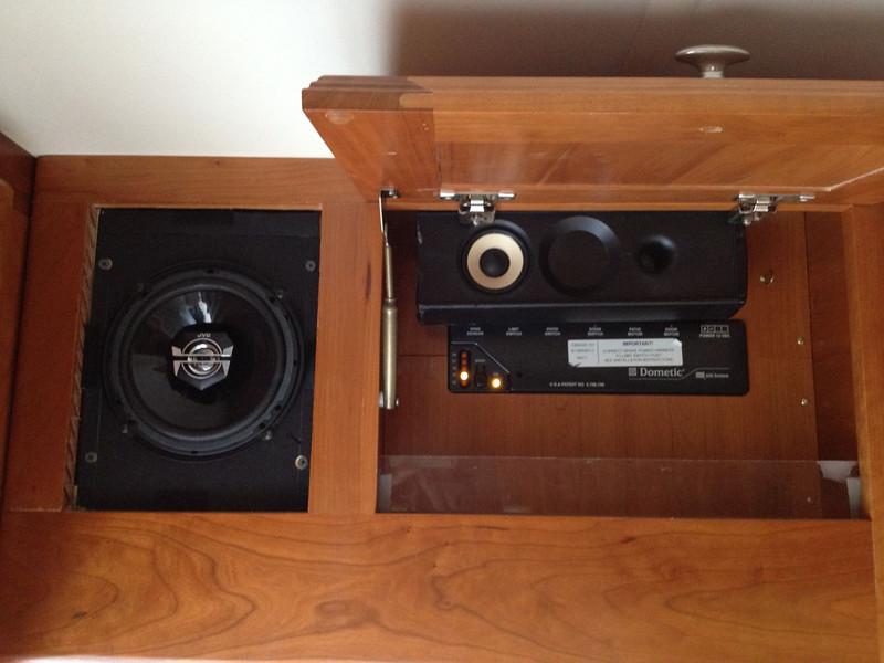 Starboard front speaker for dash radio and surround speaker