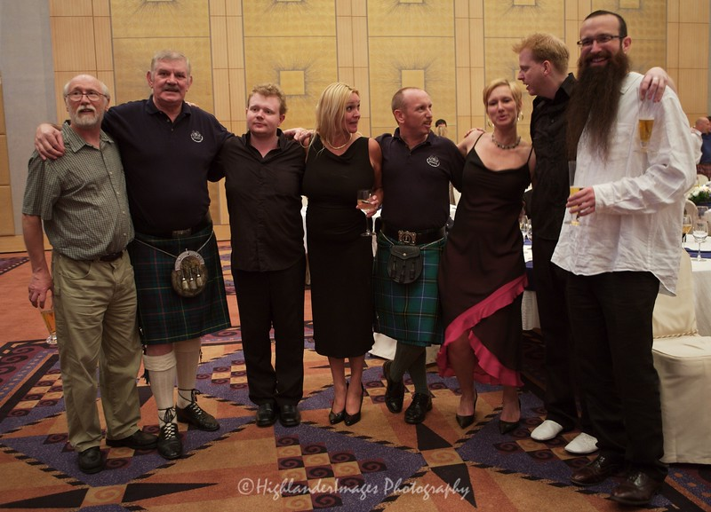 The band with John Thomson & friends post concert