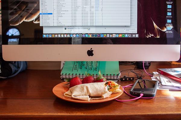 Breakfast - Scrambled Egg Burrito and Facebook and iTunes