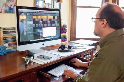 Robert Editing His Movie
