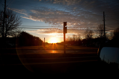 Sunset at Intersection