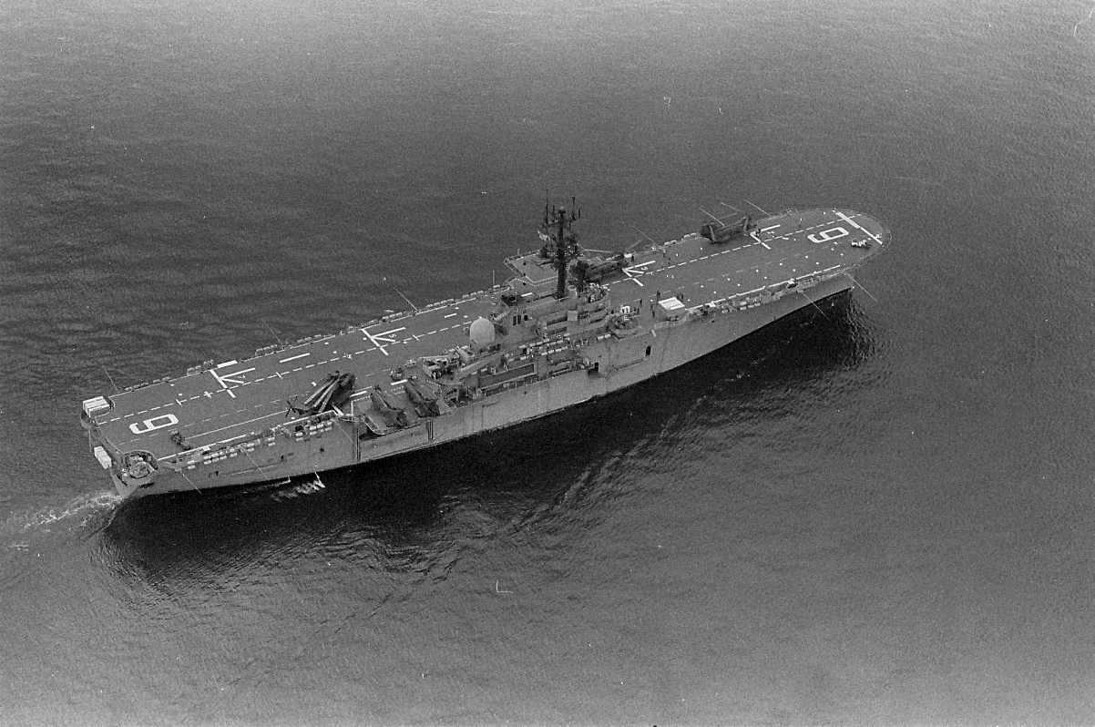 There she is the USS Guam.